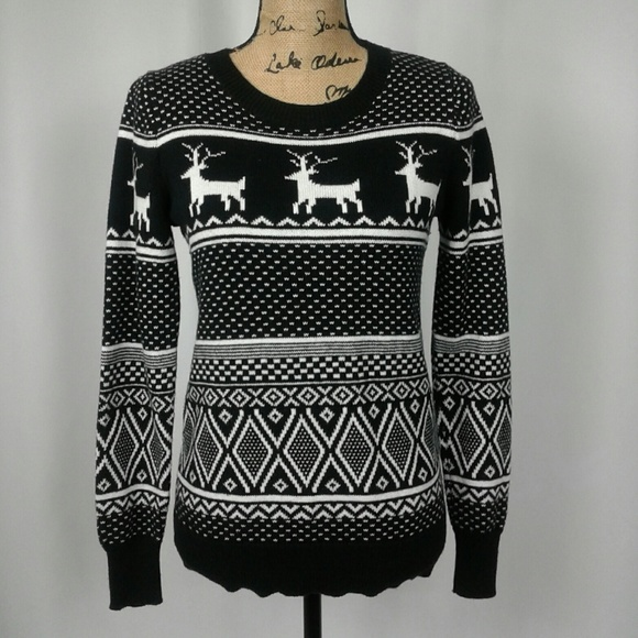 Old Navy Sweaters Knit Reindeer Holiday Christmas Sweater M Poshmark